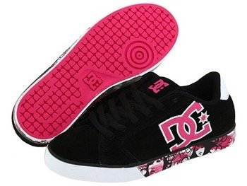 buty damskie DC- JOURNAL SE (BLACK/CRAZY PINK/WHITE)