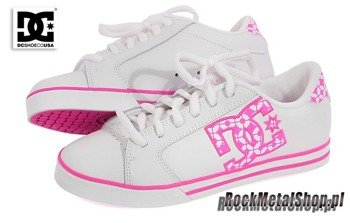 buty damskie DC- JOURNAL (WHITE/CRAZY PINK)