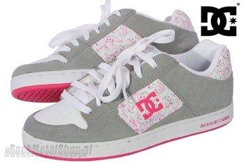 buty damskie DC- STATUS (white/armor/crazy pink)