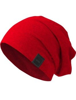 czapka MASTERDIS -  MSTRDS JERSEY BEANIE red
