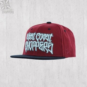 czapka WEST COAST CHOPPERS - GANGSCRIPT LOGO BURGUNDY FITTED