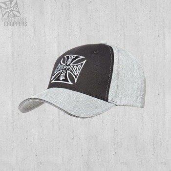 czapka WEST COAST CHOPPERS - WCC BLACK-GREY OG CROSS