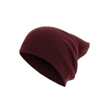 czapka zimowa MASTERDIS - BEANIE BASIC FLAP LONG maroon