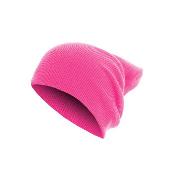 czapka zimowa MASTERDIS - BEANIE BASIC FLAP LONG neonpink