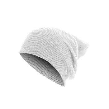 czapka zimowa MASTERDIS - BEANIE BASIC FLAP LONG white