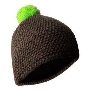 czapka zimowa MASTERDIS - BEANIE POLAR brown/lime