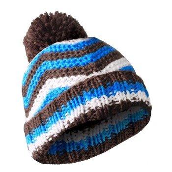 czapka zimowa MASTERDIS - BEANIE ZIG ZAG brown/turquoise