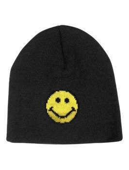 czapka zimowa MASTERDIS - SMILEY JACQUARD KNIT BLACK