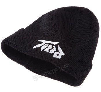 czapka zimowa TURBO - LOGO WHITE