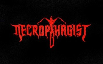 ekran NECROPHAGIST - RED LOGO