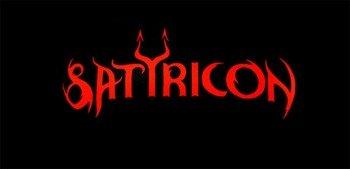 ekran SATYRICON - RED LOGO