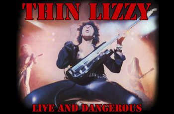 flaga THIN LIZZY - LIVE AND DANGEROUS