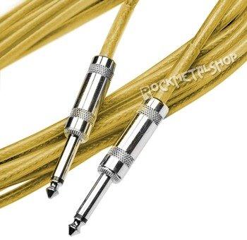 kabel gitarowy ACOUSTICS 3m jack prosty-prosty / żółty