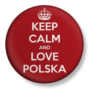 kapsel średni KEEP CALM AND LOVE POLSKA Ø38mm