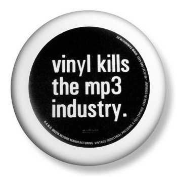 kapsel średni VINYL KILLS THE MP3 INDUSTRY Ø38mm