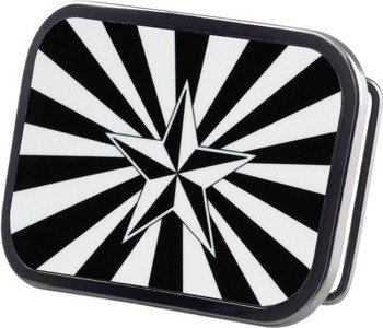 klamra do pasa NAUTICAL STAR SHINE BLACK/WHITE