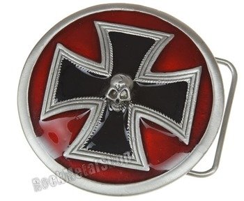 klamra do pasa SKULL + MALTESE CROSS