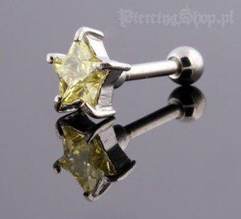 kolczyk piercing do ucha UPPER EAR GWIAZDKA [TIP-158]