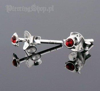 kolczyki do uszu DELFIN RED [STF-210]