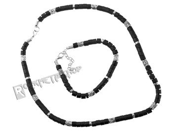 komplet koralików BLACK SILVER 11