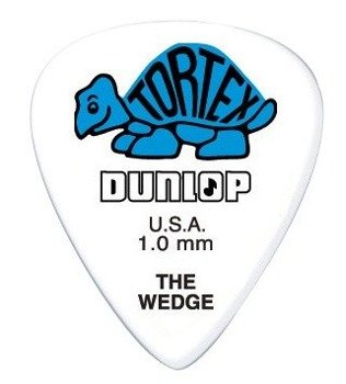 kostka gitarowa DUNLOP - TORTEX THE WEDGE BLUE 1.0 mm (424R1.0)