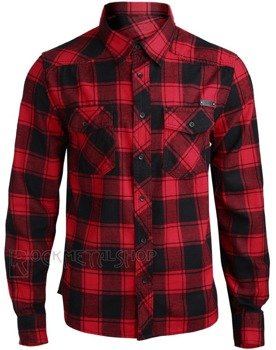 koszula CHECKSHIRT - RED BLACK