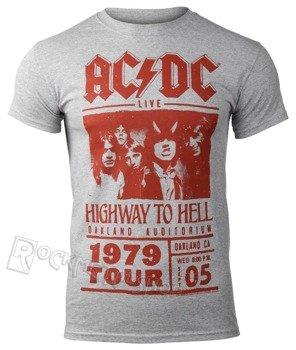 koszulka AC/DC - HIGHWAY TO HELL RED PHOTO 1979 TOUR