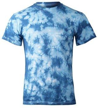 koszulka BARWIONA błękitna