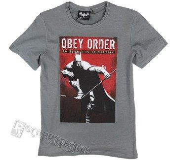 koszulka BATMAN ARKHAM CITY - OBEY SURVIVE szara