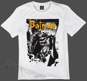 koszulka BATMAN - GOTH LETTER biała
