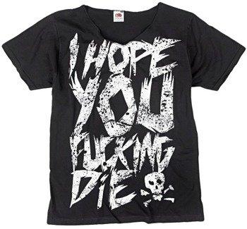 koszulka BLACK ICON - I HOPE YOU FUCKING DIE! (MICON237 V-NECK BLACK)