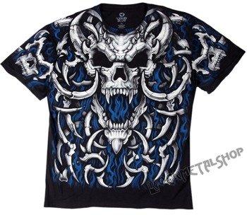 koszulka BLUE FLAME SKULL