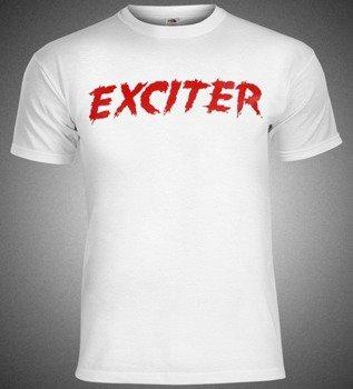koszulka EXCITER - RED LOGO biała