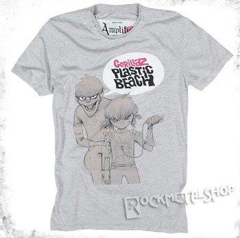 koszulka GORILLAZ - PLASTIC BEACH szary melanż