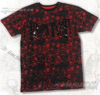 koszulka IRON FIST - HELL YES  (BLACK/RED) 09'