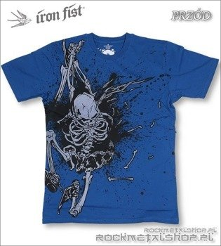koszulka IRON FIST - ROBO WISHBONE (COBALT BLUE)