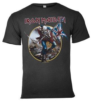 koszulka IRON MAIDEN - THE TROOPER szara