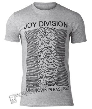 koszulka JOY DIVISION - UNKNOWN PLEASURES szary melanż