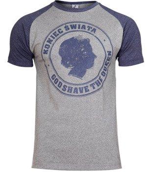 koszulka KONIEC ŚWIATA - GOD SHAVE THE QUEEN grey