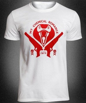 koszulka MY CHEMICAL ROMANCE - KOBRA HEAD biała