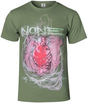 koszulka NONE - MY ONLY HEART OF LION oliwkowa