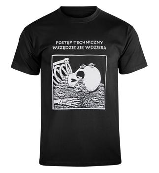 koszulka POSTĘP TECHNICZNY WSZĘDZIE SIĘ WDZIERA