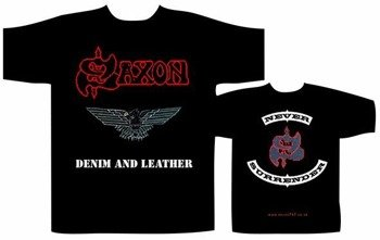 koszulka  SAXON - DENIM AND LEATHER