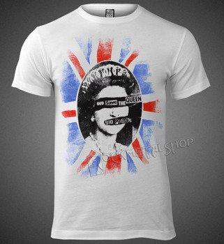 koszulka SEX PISTOLS - QUEEN biała