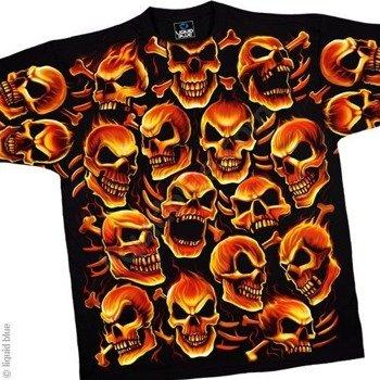 koszulka SKULLS - FIERY SKULLS