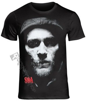 koszulka SONS OF ANARCHY MAN - JAX HALF SKULL