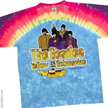 koszulka THE BEATLES - YELLOW SUBMARINE RAINBOW barwiona