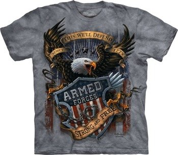 koszulka THE MOUNTAIN - ARMED FORCES, barwiona