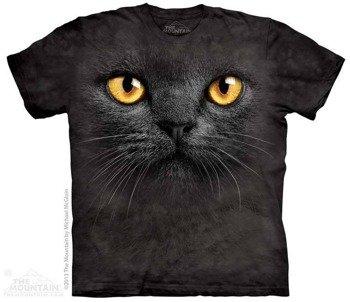 koszulka THE MOUNTAIN - BIG FACE BLACK CAT, barwiona