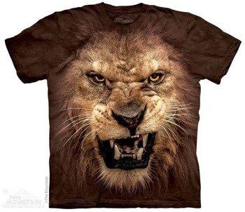 koszulka THE MOUNTAIN - BIG FACE ROARING LION, barwiona